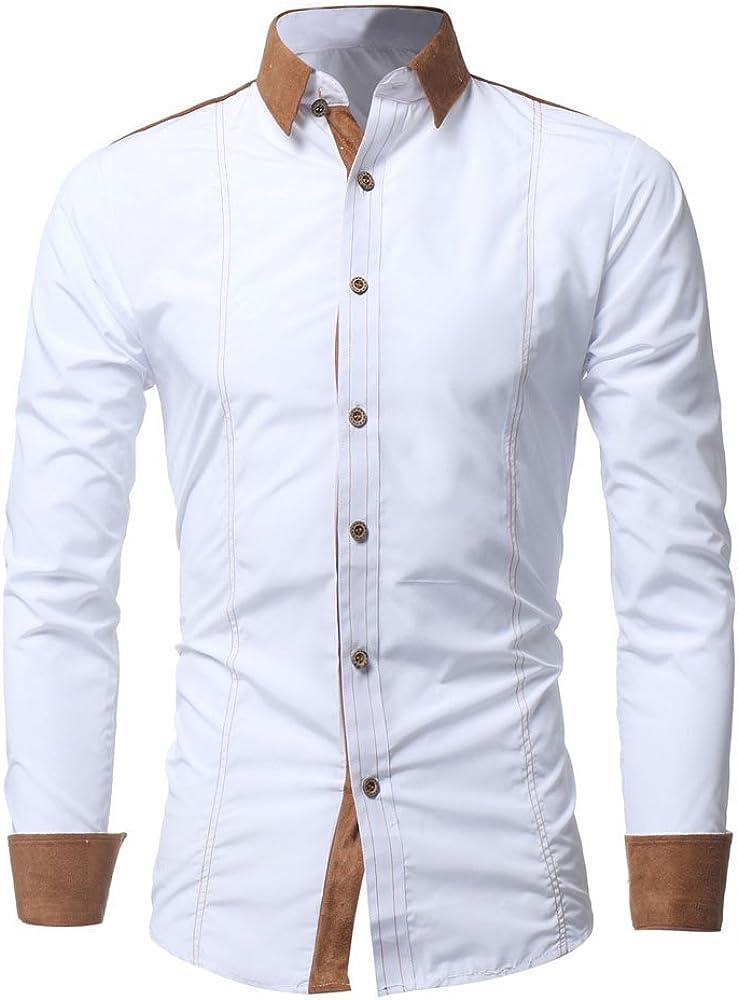 VEKDONE Men's Casual Dress Shirts Regular Fit Long Sleeve Button Down Shirts Casual Formal Business Work Shirt Tops