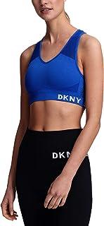 DKNY Sport Mesh Racerback Medium-Impact Sports Bra (Green, S)