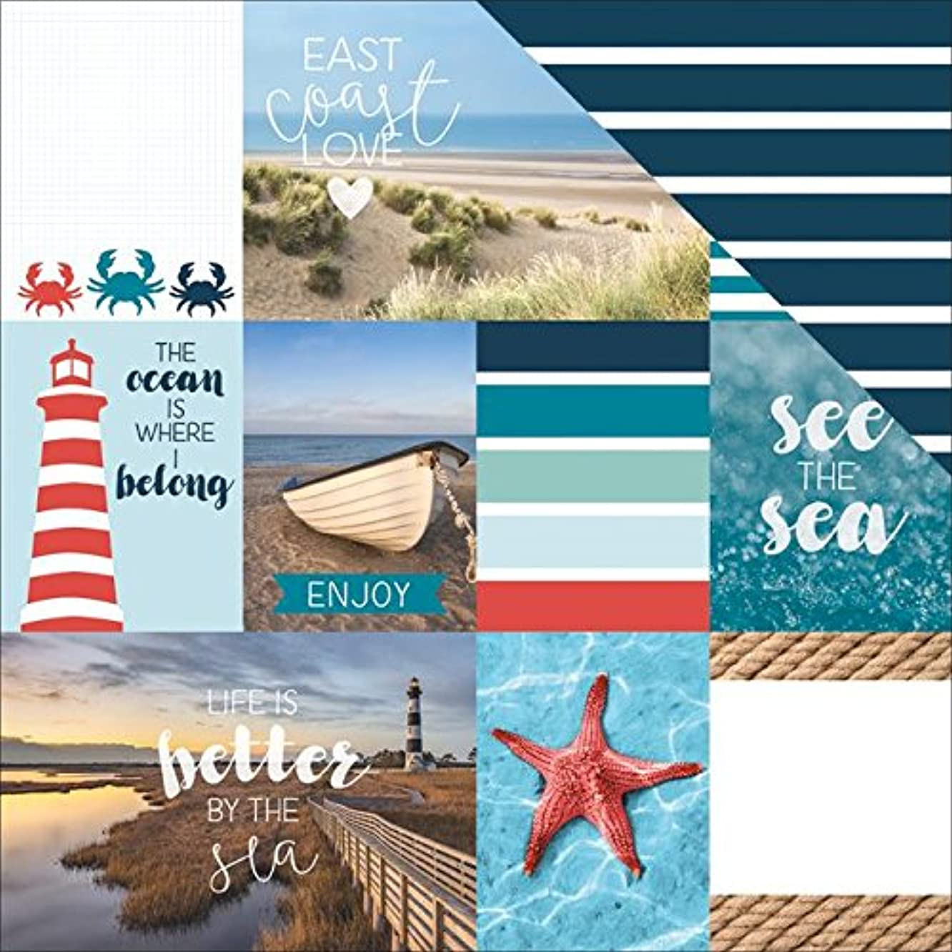 Paper House Productions East Coast Tags Paper Craft Product (15 Pack), Piece