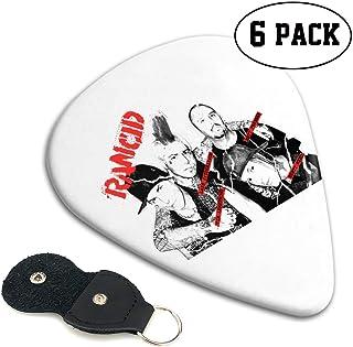 TONICKZILLA Rancid ランシド ギターピック オシャレ ベース、カポタスト ギター、カポ アコースティックギター、ウクレレ、エレキギター用 ピック トライアングル 6枚セット プレゼント
