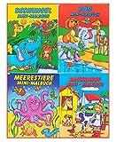 Libetui Set 10 Malbücher für Kinder Mini Malbuch Größe b6 17,6 x 12,5 cm Kinderbeschäftigung Zuhause Hort Mitgebsel Kinderparty Hochzeit Geschenk Kindergeburtstag Vier Motive