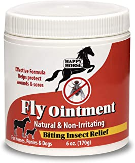 Happy Horse Relief Ointment for Horses, Ponies, and Dogs, with Plant Based Active Ingredients- 6oz