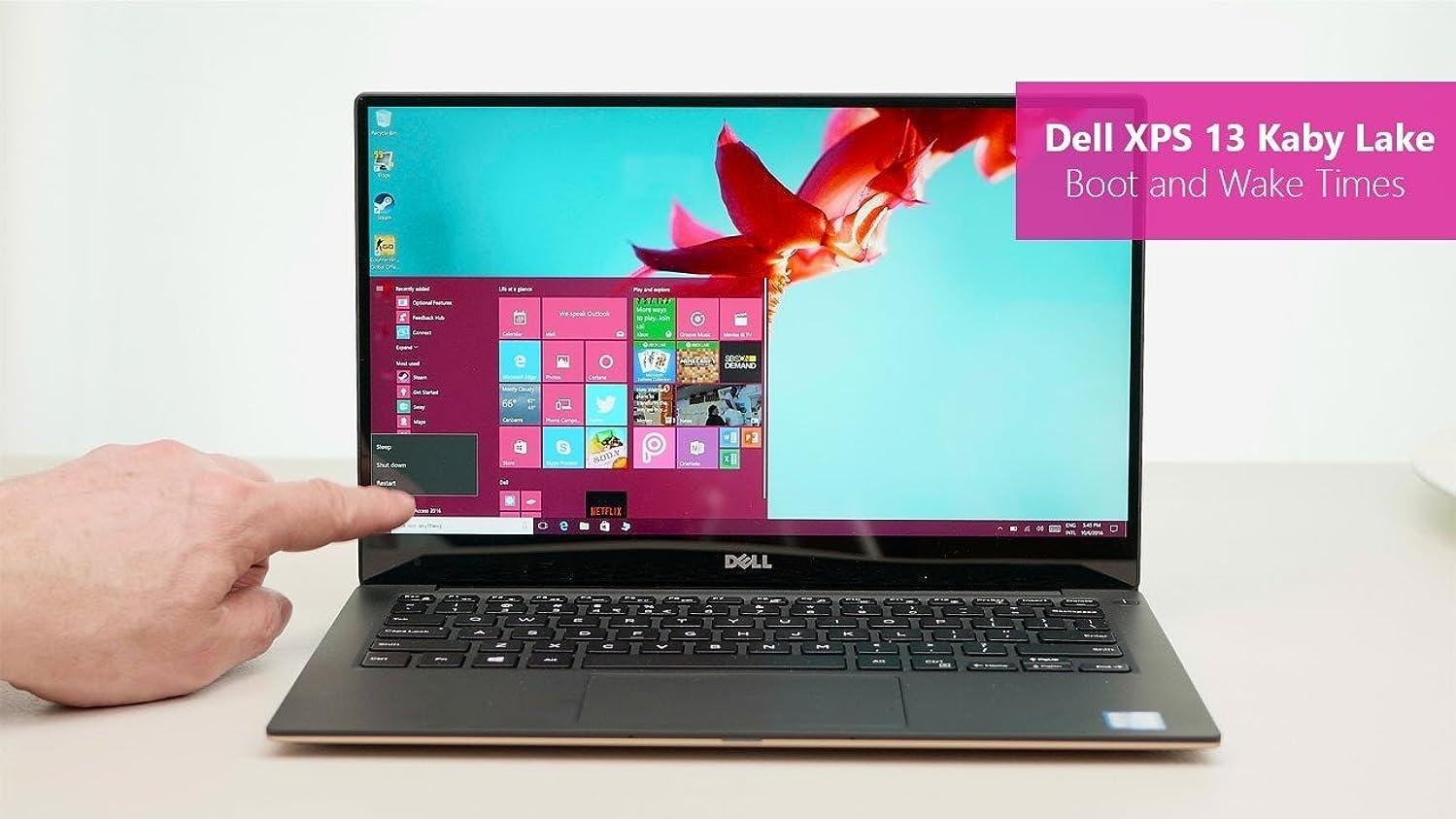 Newest Dell XPS 9350 QHD+ (3200 x 1800) Touch Screen Laptop NoteBook (Intel Core i7-6560U, 16GB Ram, 256GB SSD, Camera, Type C Port) Windows 10 (Renewed)