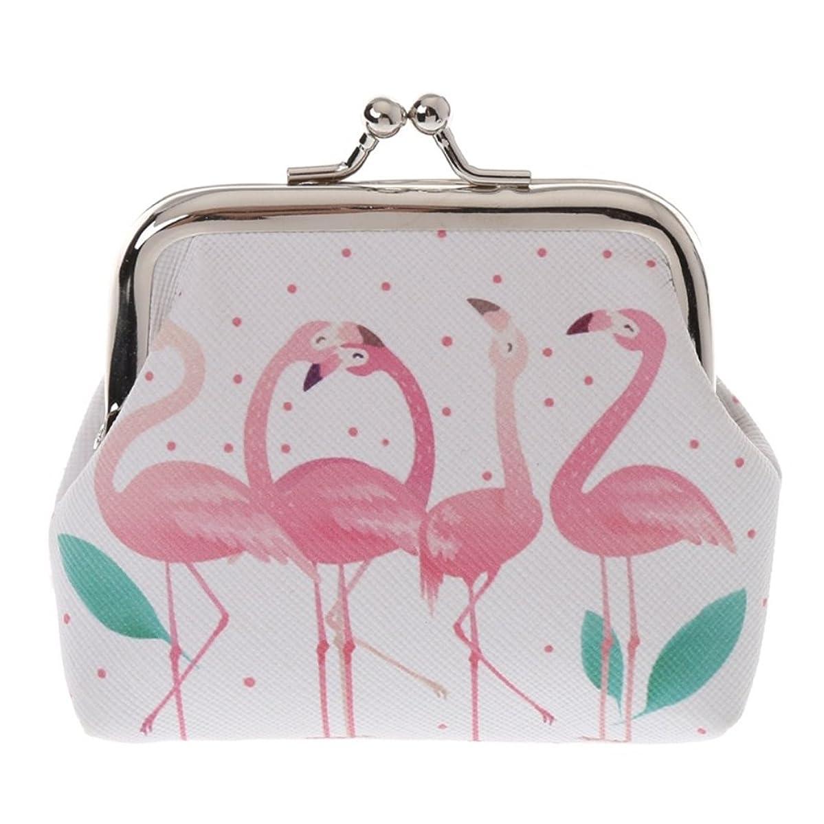 Aland Cartoon Flamingo Faux Leather Coin Purse Bag Earphone Key Case Women Mini Wallet 4#