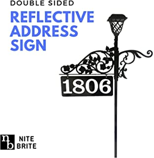 Driveway Address Marker Sign - Double Sided Reflective Address Sign with Solar Light that is Visible to Emergency Responders | Custom Made