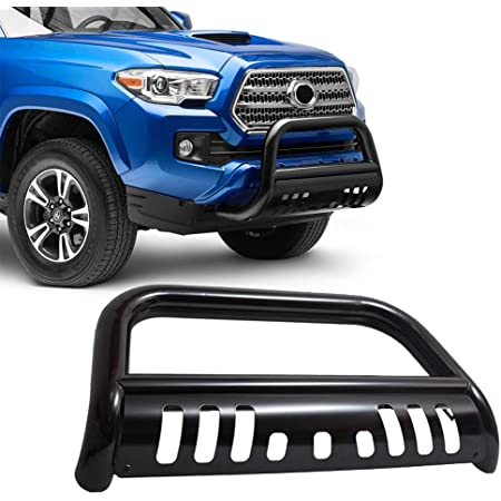 36W CREE LED Fog Lights For 97-03 Ford F150 04 Heritage F250 97-02 Expedition Topline Autopart Black Bull Bar Brush Push Bumper Grill Grille Guard With Skid Plate