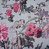 Werthers Stoffe Stoff Meterware Leinen Blumen Bouquet