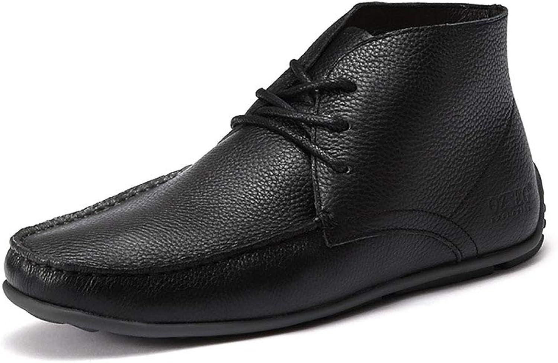DLBJ Martin Boots Men's Winter New Versatile Cotton shoes Plus Velvet Warm Non-Slip Casual Snow Boots