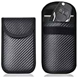 Migimi Keyless Go, custodia protettiva per chiavi dell'auto, 2 pezzi RFID, schermatura in pelle, custodia per chiavi dell'auto, custodia per chiavi dell'auto (nero)