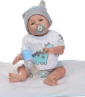 Reborn Baby Boy Dolls Silicone Full Body Eyes Open Lifelike Baby Dolls for Girls 20 Inch Newborn Anatomically Correct Washable Toy Doll