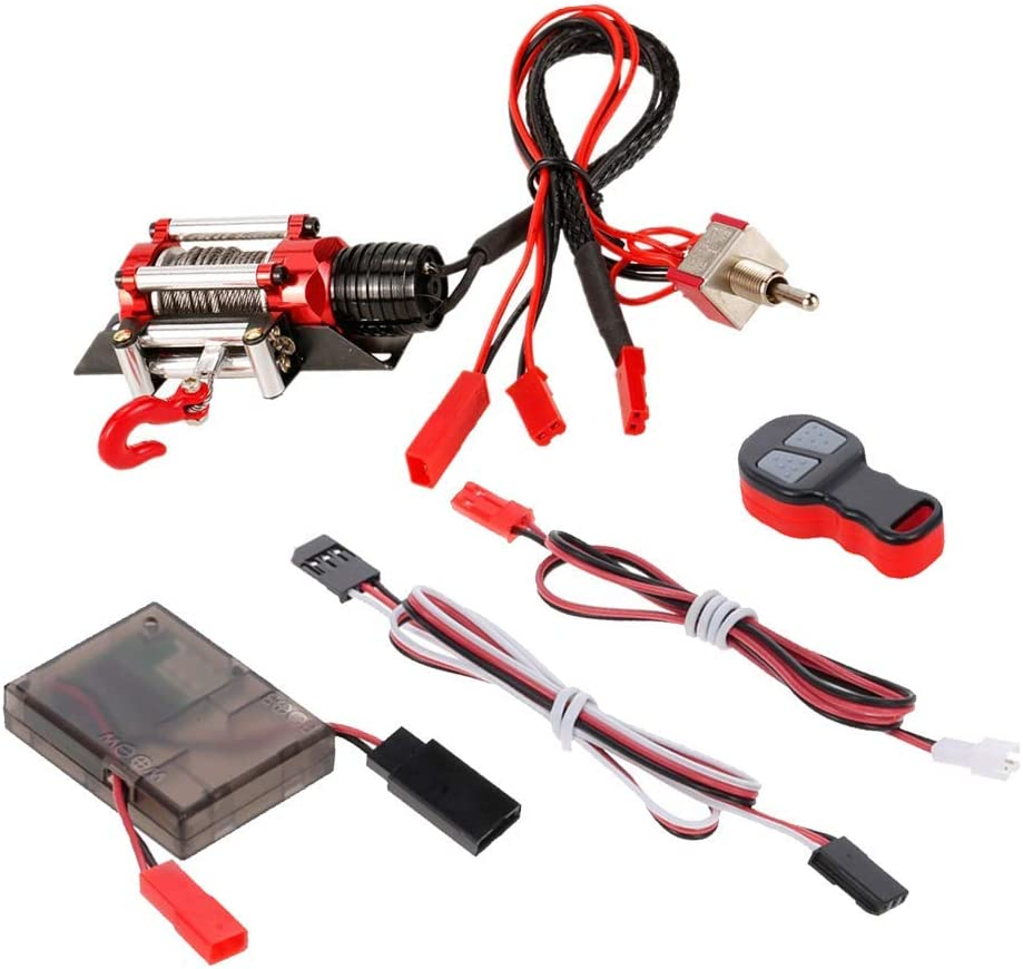 Sale Special Price hndfhblshr RC Spare Parts Accessory 4WD System Winch Long Beach Mall wi 1 10
