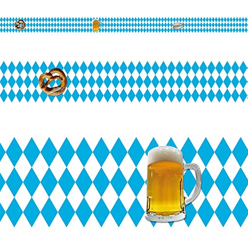 RASCH Borte Bordüre Partyzimmer- 244601 Oktoberfest Bayern selbstklebend