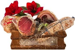 Cestas de navidad pequeñas 2–Salumificio artigianale gombitelli–Colección de Regalos de Navidad 2017–Toscana Italia