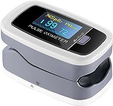 Mpow Oxímetro de Dedo, Pulsioxímetro de Dedo Oxímetro Pulsómetro Digital con Pantalla OLED, 5 Niveles de Ajuste de Brillo, Lector de Pulso Digital de Lectura Instantánea, Aprobado por FDA&CE