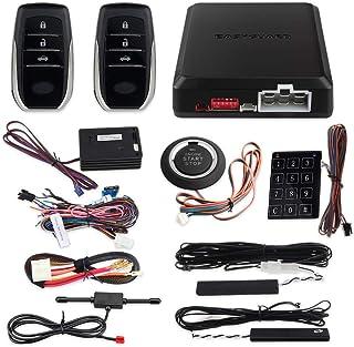 EASYGUARD EC002 T2 NS PKE Auto Alarmanlage mit Näherungssensor Sperre Entriegelung Fernbedienung Motor Start Push Start Taste Touch Passwort Eingabe Backup Vibrationsalarm DC12V