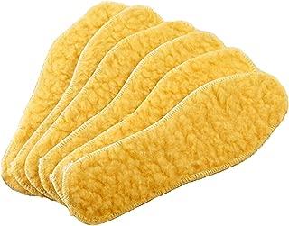 Plain walker Fleece Sheepskin Warm Insoles Men's & Women's Premium Cozy & Fluffy Wool Inserts (US 8)