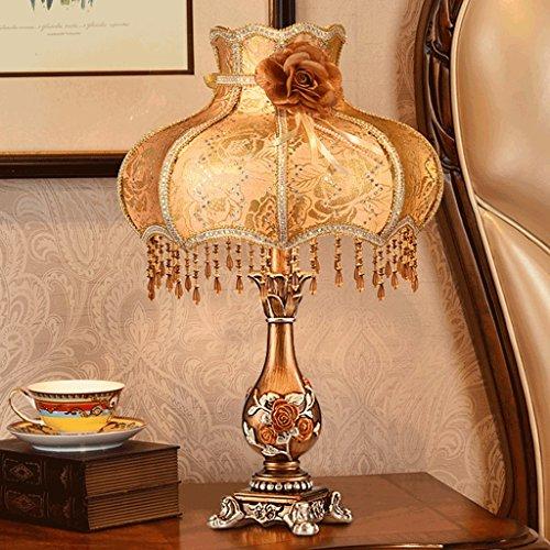 PIAOLING Lampes à économie d'énergie LED rétro élégantes en Europe, Lampes de Table américaines de Luxe pour l'ameublement, Chambre à Coucher éclairage Chaleureux (Color : C)