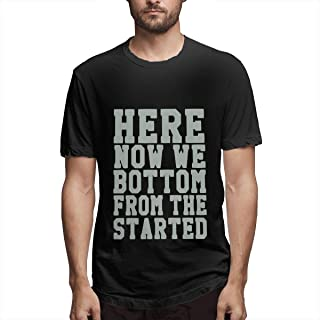 Aiguan Now We're Here (Started from The Bottom) Men's Cool Short Sleeve T Shirt Black