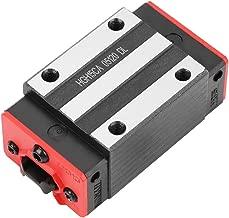 Akozon Linear Rail Guide Block  HGH15CA Mini Linear Motion Guide Rail Slider Bearing Steel Sliding Block