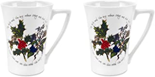 Portmeirion Holly and Ivy Pair of Mugs 0.28L