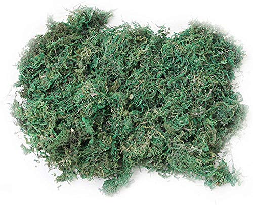 CAILI Artificial Moss,Fake Green Lichen,Fake Green Plants for Home Garden Patio Decoration, Artificial Reindeer Moss For Lining Plant Flower Garland Decor 600g