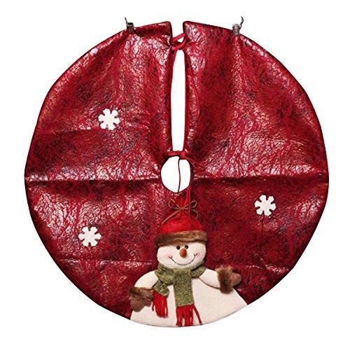 kitchnexus Árbol de Navidad falda Stands de Navidad Papá Noel Muñeco de nieve Base de árbol de mimbre decoración de 60cm