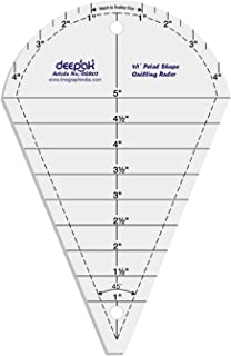 45° Petal Shape Quilt Designing and Crafting Quilting Ruler Template 5 Inches by LINOGRAPH