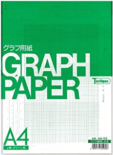 SAKAEテクニカルペーパー 図表用紙 チャート紙 上質紙 ワイブル確立紙 A4 25枚 グリーン色 A4-ワ2