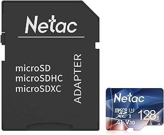 Netac Tarjeta de Memoria de 128GB con Adaptador Tarjeta Memoria microSDXC(A1 U3 C10 V30 4K 667X) UHS-I Velocidad de Lectura hasta 100 MB/s Tarjeta TF para Móvil Cámara Deportiva Switch