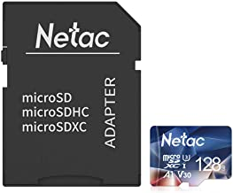 $20 » Netac 128GB micro SD Card, microSDXC UHS-I Memory Card with Adapter - 100MB/s, 667X, U3, C10, Full HD Video V30, A1, FAT32...