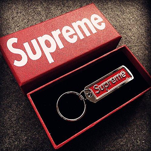 Supreme Keyring Schlüsselanhänger Sup Anhänger Zubehör Rucksack Schmuck Schlüsselanhänger Schlüsselanhänger Supreme Key Ring (RED)