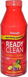 5 Pack - Detoxify Ready Clean Herbal Cleanse 16 Fl Oz Tropical Fruit Flavor with Free Im Baked Bro and Doob Tubes Sticker