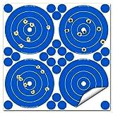 Big Dawg Targets Adhesivo 4Inch Salpicaduras de reactiva Shooting Target–Cuatro Objetivos y 28reparación Parches por Hoja