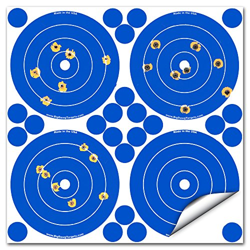 Adhesive 4 Inch Reactive Splatter Target - 25 Pack (100 Targets 600 Repair Patches)