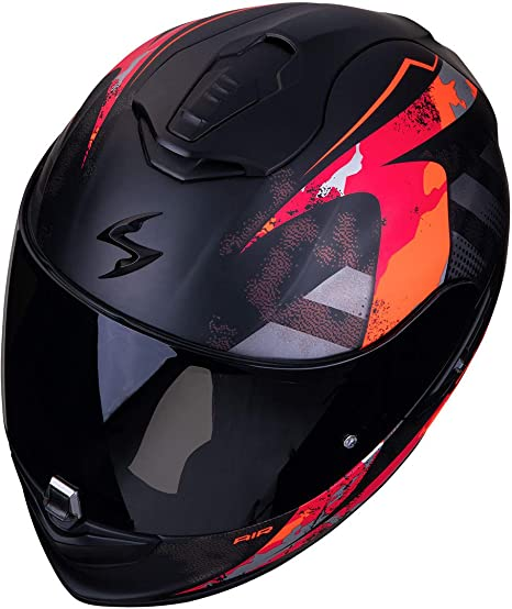 Scorpion Exo 1400 Air Sylex Motorcycle Helmet Matt Black Red Black Red L Auto