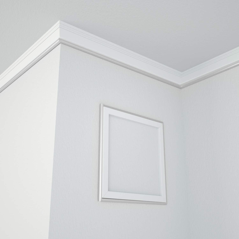 argento controsoffitti controsoffitti 16 metri impermeabile modanatura per bordo armadio bordo parete Modanatura a quartiere flessibile autoadesiva