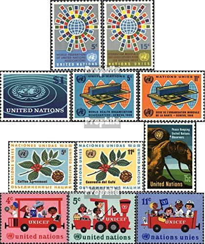 Prophila Collection UNO - New York 163-173 (kompl.Ausg.) Jahrgang 1966 komplett 1966 Gesundheit, Kaffee u.a. (Briefmarken für Sammler)