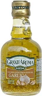 Grand'aroma Garlic Extra Virgin Olive Oil, 8.5-Ounce Bottles (Pack of 3)