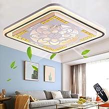 Wentylator sufitowy, cichy, z oświetleniem, lampa sufitowa LED, z pilotem zdalnego sterowania, możliwość ściemniania, nowo...