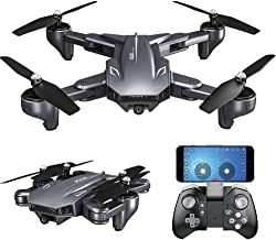 GoolRC Drone with Camera 4K VISUO WiFi FPV HD Camera Video and Optical Flow Positioning Camera, XS816 Foldable RC Quadcopter for Beginners