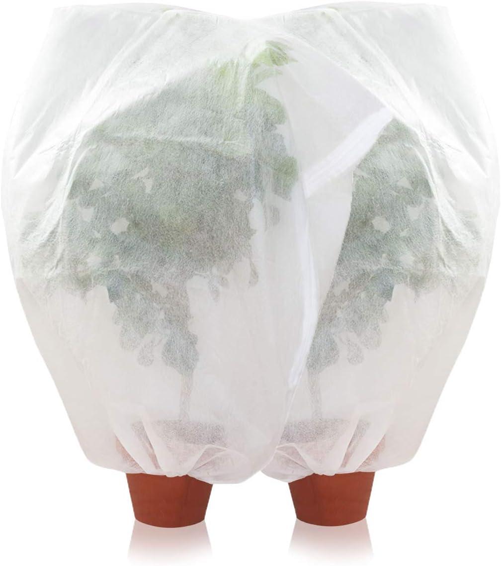 Amazy Schutzhülle Für Pflanzen 2er Set M Der Praktische Kübelpflanzensack Aus Vlies Schützt Empfindliche Topfpflanzen Vor Frost Wind Und Niederschlag 100 X 80 Cm Garten