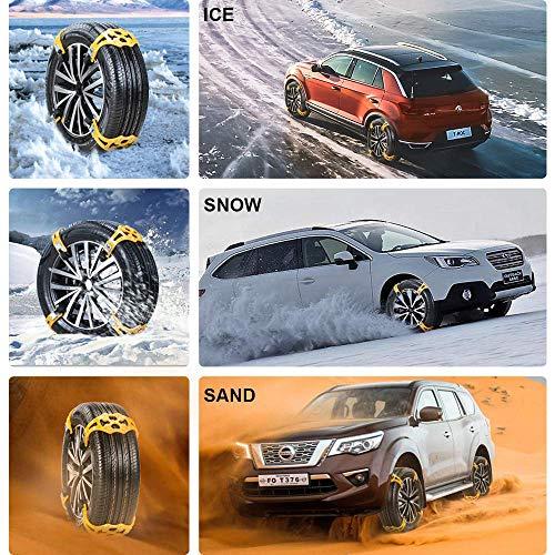 1Pcs Universalreifen Schneekette - Einstellbare Notzughilfe Anti-Rutsch Ketten- Tragbar Leicht Montieren Für Kfz-Transporter SUV Universal Anti-Rutsch Reifenkette - Reifenbreite 165Mm-245Mm/6,5-10 \'\'