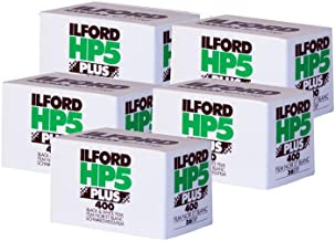 Five Pack of Ilford HP5 Plus 35mm Black & White Negative Film, 36 Exp