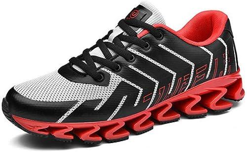 WYX Nuevos Zapaños Deportivos para Hombre Hauszapatos Deportivas al Aire Libre Casual para Hombre Zapaños de Choque TransPiñable Hauszapatos de Running,B,39