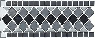 LONGKING Peel and Stick Backsplash Decortaive Tile Stickers Waist Line Retro Mosaic Wall Sticker Kitchen Cabinet Toilet Border, 12.4x5 inches (10 Sheets)