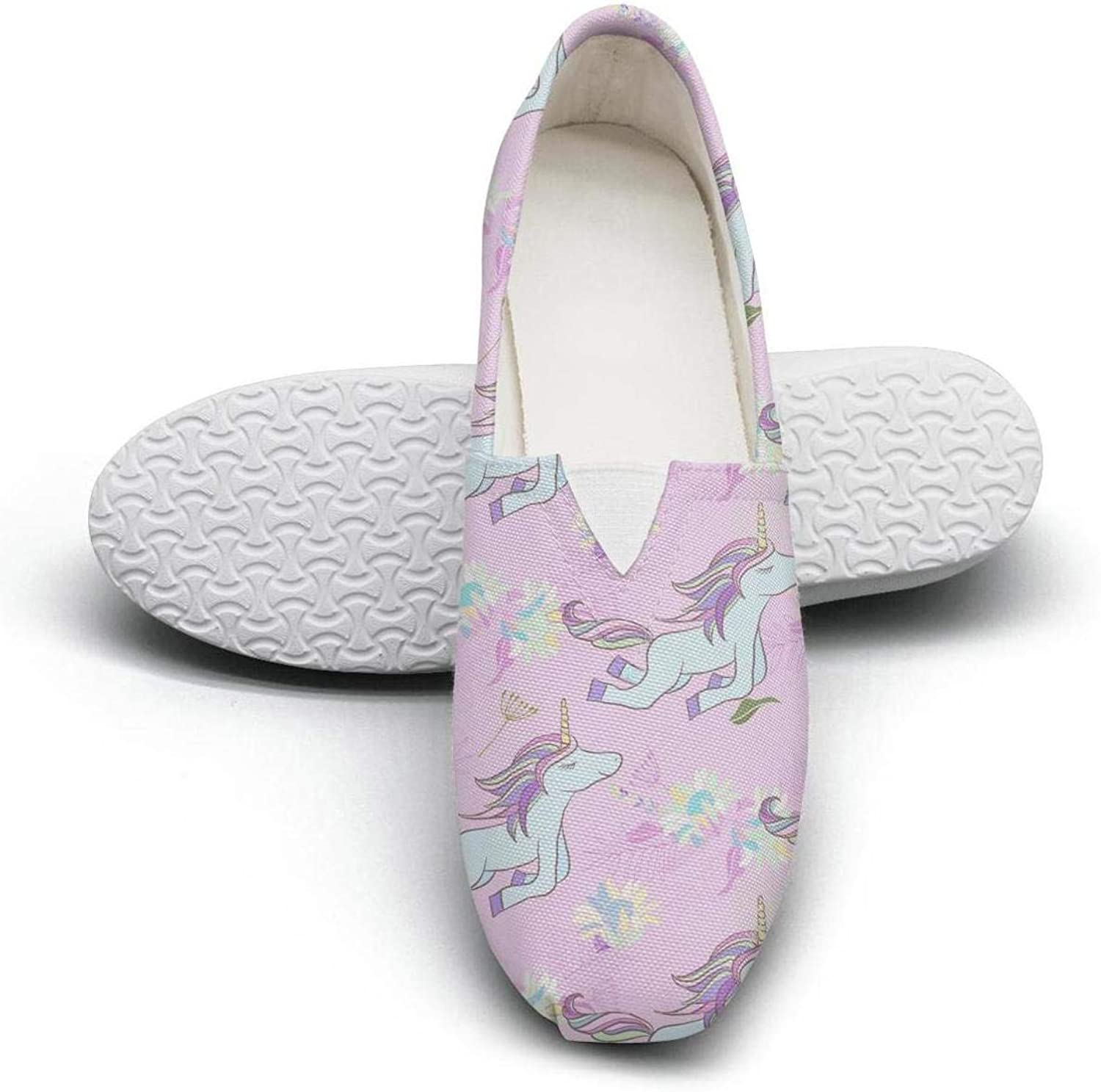 Rus Ababy Womens Walking shoes Kitty Cat Riding A Unicorn Fashion Sneakers Low Slip-on Comfortable Loafers Flat