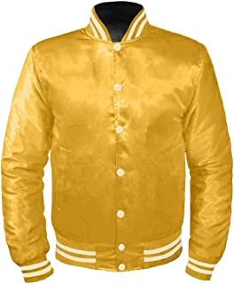 8e6979939 Amazon.com: Yellows - Varsity Jackets / Lightweight Jackets ...