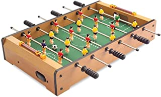 Nine-tailed fox Classic Wooden Soccer Kids Parents Interaction Toy Games Mini Football Table Foosball 48 * 28 * 8.2CM (Color : Wood Color)