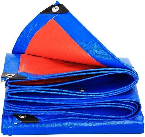 Bache souple légère bleue et Orange pour tente extérieure camping tente bache canopée empreinte au sol feuille de pluie abri tapis pare-soleil en plastique imperméable enfants armée jouets couvertures