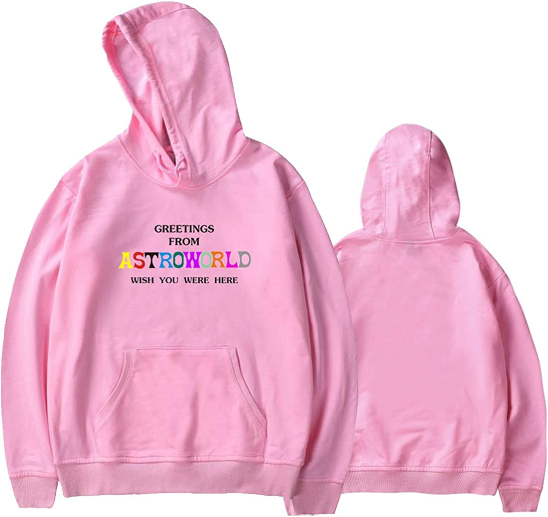 EMILYLE Unisex Hoodie ASTROWORLD Theme Inspired by Rapper Travis Scott Men Women Sweatshirt